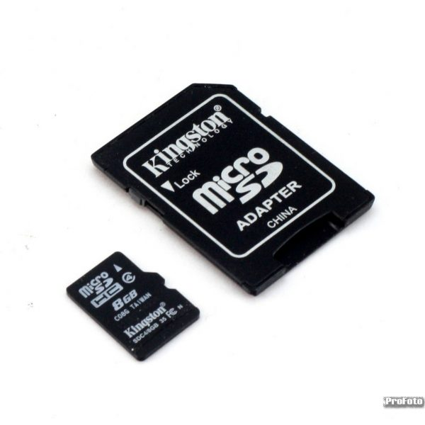 Memorijska kartica Kingston HC 4 8GB Micro SD + Adapter (SD)