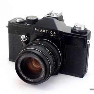 Praktica LLC + Pentacon 50mm f/1,8 M42