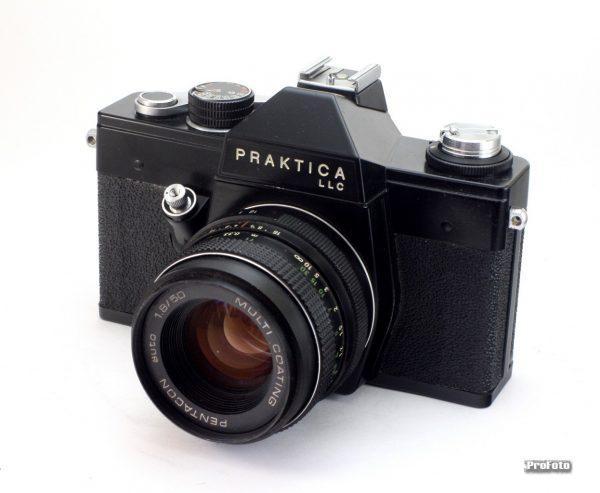 Praktica LLC + Pentacon 50mm f/1,8 M42