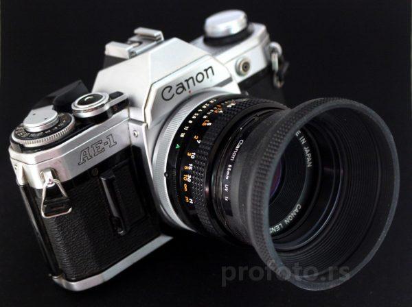 Canon AE-1 + Canon FD 50mm f/1,8 S.C.