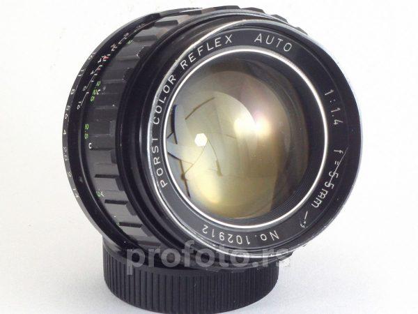 Porst Color Reflex Auto 55 mm f/1.4 (Tomioka lens) M42