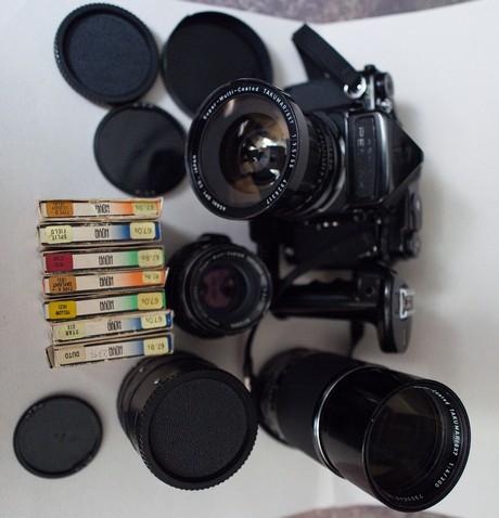 Asahi Pentax 6×7 I SMC Takumar 55mm f/3.5 I 105mm f/2.4 I 300mm f/4 I Accessories