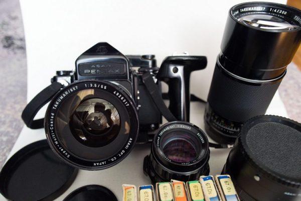 Asahi Pentax 6x7 I SMC Takumar 55mm f/3.5 I 105mm f/2.4 I 300mm f/4 I Accessories