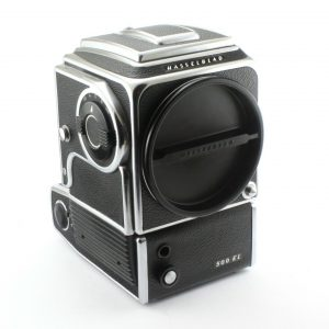 HASSELBLAD 500 EL Camera body, Charger + Battery compartment, 2 Batt