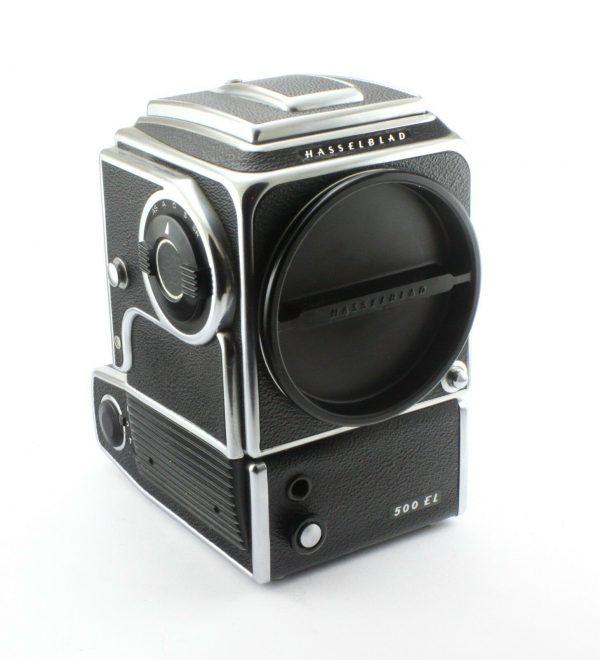 HASSELBLAD 500 EL Camera body, Charger + Battery compartment, 2 Batt