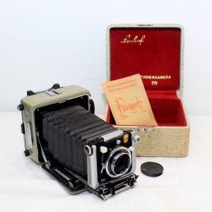 Linhof Technika Studienkamera 70 Camera, Carl Zeiss Tessar 100mm f/3.5 Lens MINT