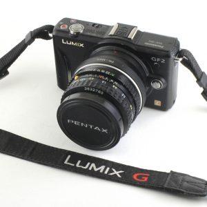 Panasonic Lumix GF2 Micro 4/3 + Pentax 50mm f/1.8 PK + Adapter