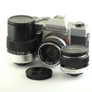 Topcon Uni + 35mm f/3.5 + 53mm f/2.0 + 135mm f/4.0
