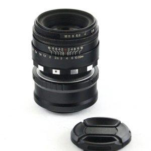 Helios 44M 58mm f/2.0 Navoj M39/M42 Biotar Copy Zebra / Adapter Micro 4/3