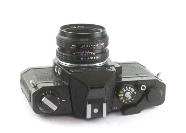 Chinon CS + Petri 45mm f/2,8 M42
